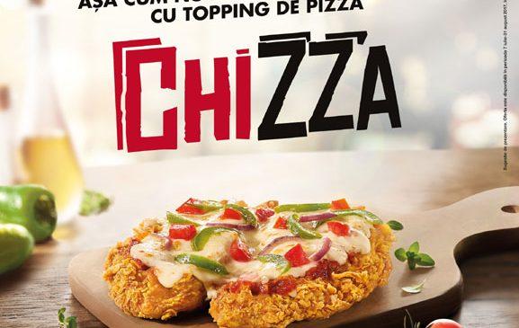 Chizza, cel mai nou produs de la KFC, aduce împreună pieptul de pui delicios şi toppingul de pizza