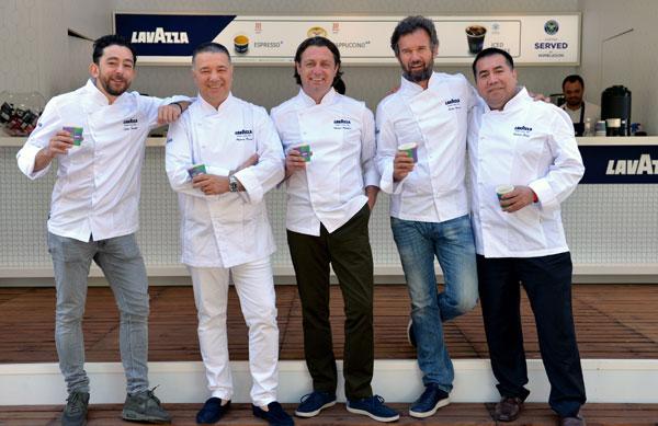Lello Favuzzi, Alfredo Russo, Shaun Rankin, Carlo Cracco & Robert Ortiz