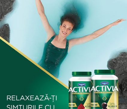 """O nouă campanie de comunicare """"Relaxează-ți simțurile și câștigă cu Activia"""""""
