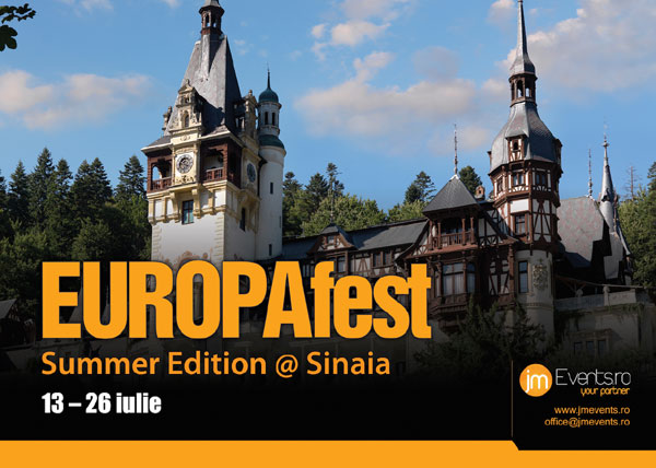 afis EUROPAfest Summer Edition Sinaia 13-26 iulie 2017