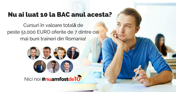 80 de burse în valoare de peste 51.000 de euro la cursuri online pentru absolvenții de la BAC care nu au luat 10