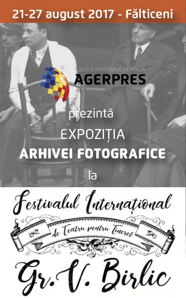 """AGERPRES la Festivalul International de Teatru pentru Tineret """"Gr. Vasiliu Birlic"""""""