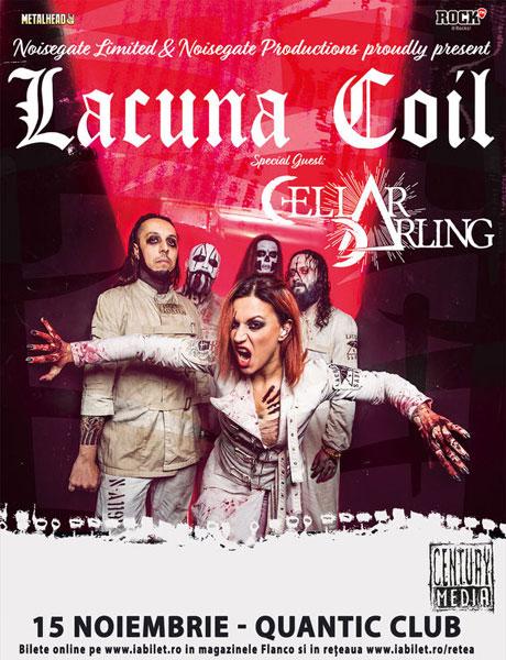 Concert Lacuna Coil si Cellar Darling, 15 noiembrie