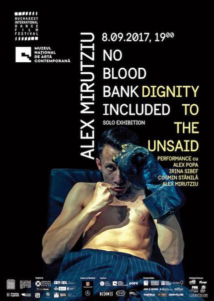 Dignity to the unsaid, Alex Mirutziu posterjpg