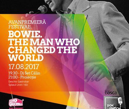 "Documentarul ""Bowie: The Man Who Changed the World"" proiectat la avanpremiera DokStation 2"