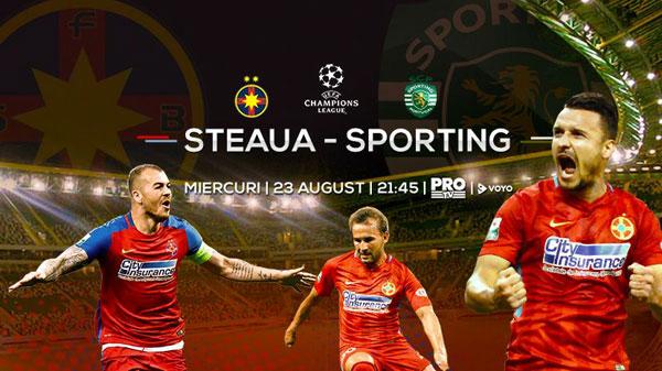 FCSB – Sporting Lisabona e miercuri, de la 21:45, la PRO TV
