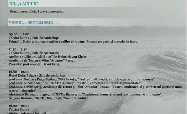 """Program """"Întâlniri Teatrale la Sulina"""""""