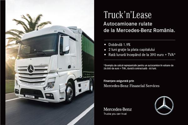 Autocamioane rulate la pre uri avantajoase prin campania for Mercedes benz truck financial