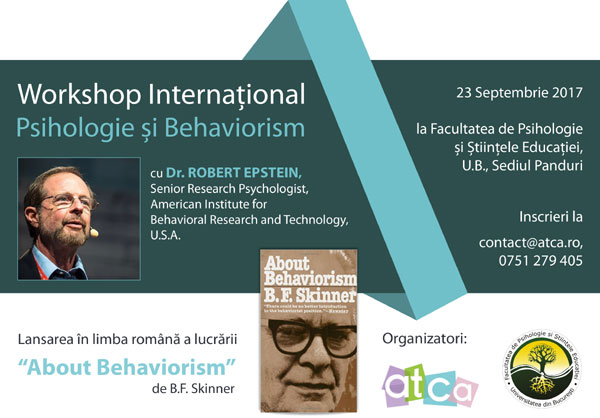 Workshop International de Psihologie si Behaviorism cu Dr. Robert Epstein