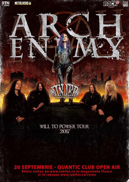 afis Arch Enemy si Jinjer
