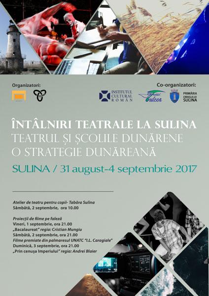 afis Intalniri Teatrale la Sulina