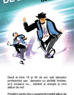 Casting pentru Tabăra de Dans Urban – dedicată tinerilor dansatori amatori sau profesioniști și tinerilor cu abilități limitate pasionați de muzică și dans – pe 24 august, la București