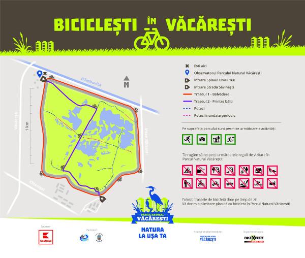 Harta Biciclisti in Vacaresti