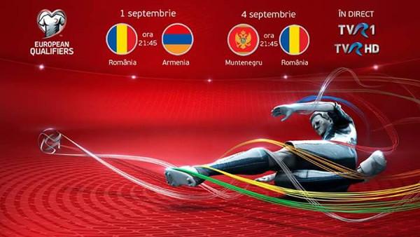 Live la TVR: România-Armenia şi Muntenegru-România