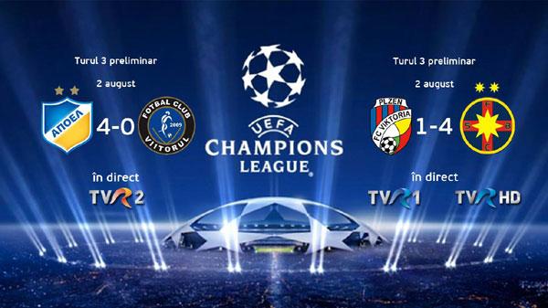 rezultate preliminarii UEFA Champions League