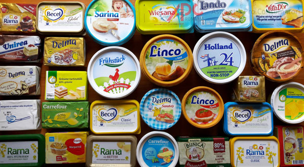 Margarină cu aromă de unt și conservanți