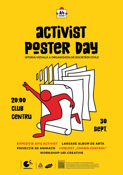Afis Activist Poster Day 30 septembrie
