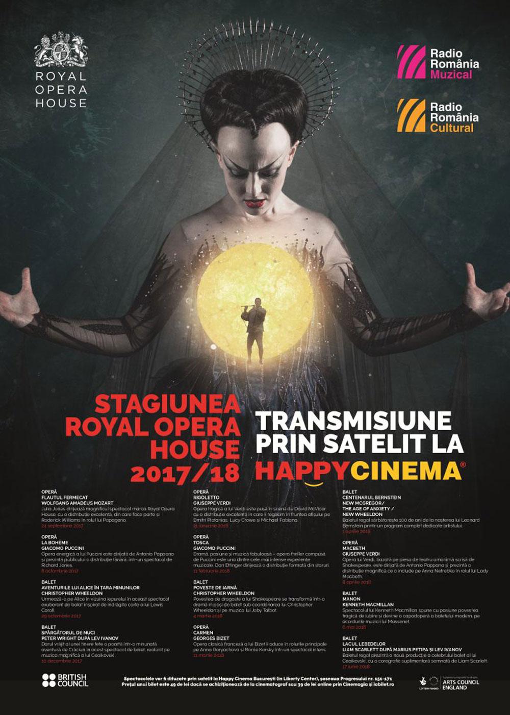 Afis program stagiune la Happy Cinema