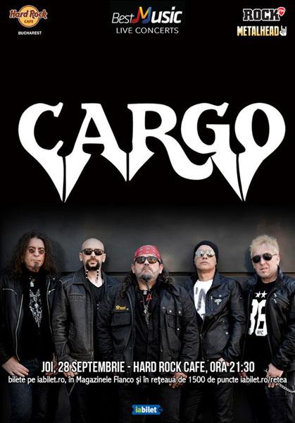 Concert CARGO la Hard Rock Cafe, 28 septembrie