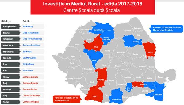 500 de copii cu risc de abandon școlar din mediul rural vor fi beneficiarii unei noi runde de proiecte finanțate de Fundația Vodafone România