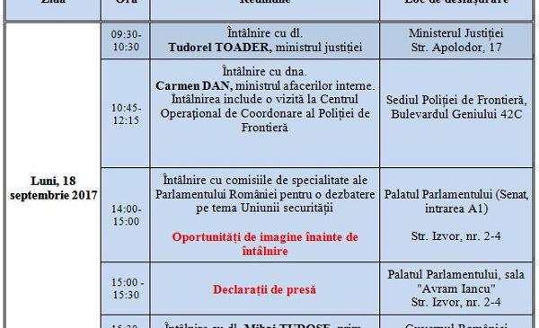 Comisarul european Julian King vizitează România