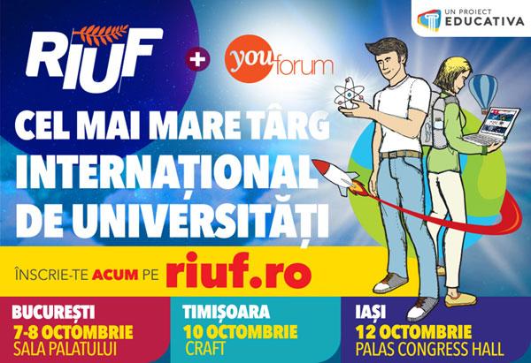 RIUF - The Romanian International University Fair, Bucuresti, octombrie 2017