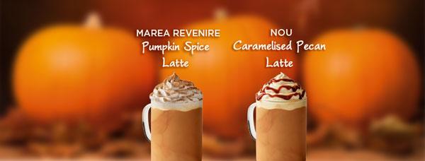 Ziua Pumpkin Spice Latte Starbucks