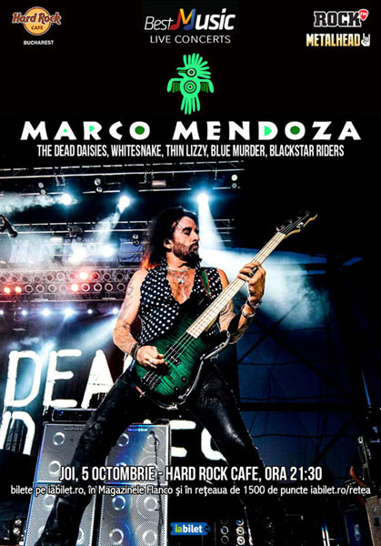 concert Marco Mendoza, 5 octombrie