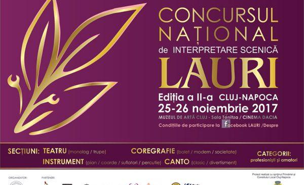 Concursul Național de Interpretare Scenică LAURI Cluj Napoca, Ediția a II-a 2017