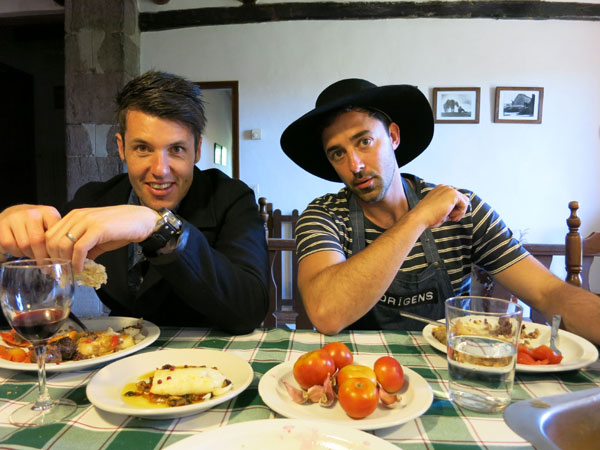 Andy And Ben Eat The World, eating mushrooms