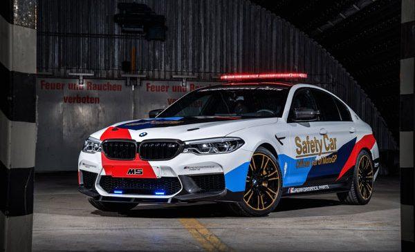 Tehnologie inovatoare pentru siguranţă în elita curselor de motociclete: noul BMW M5 MotoGP Safety Car