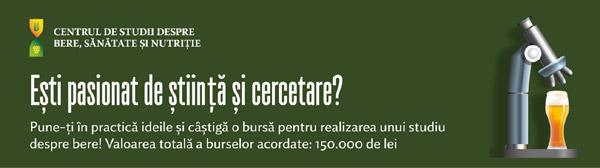 Burse de 150.000 de lei pentru studii despre bere