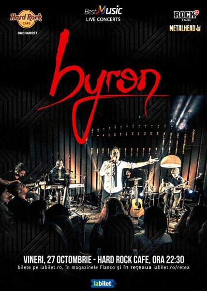 Concert byron - electric pe 27 octombrie la Hard Rock Cafe