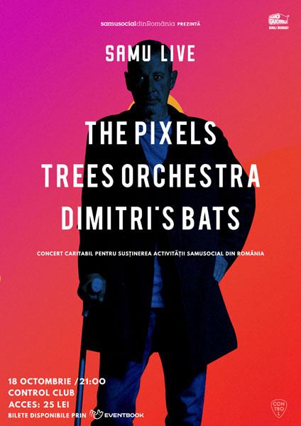 Concert caritabil Samu Live cu The Pixels x Trees Orchestra X Dimitris Bats