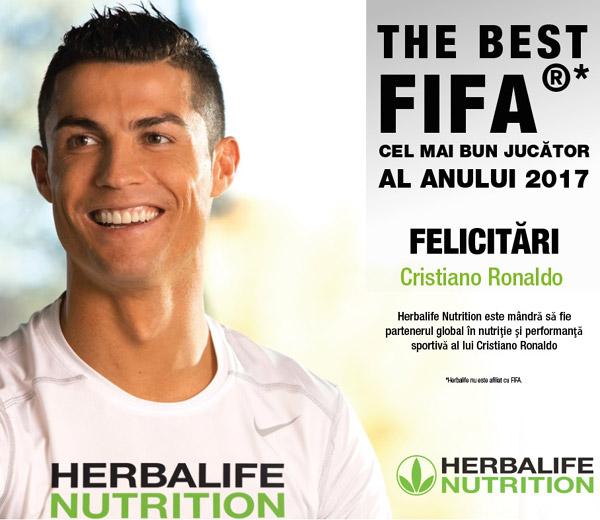 Cristiano Ronaldo, jucatorul anului 2017
