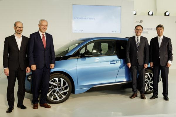 Eveniment productie 100.000 BMW i3 la Leipzig