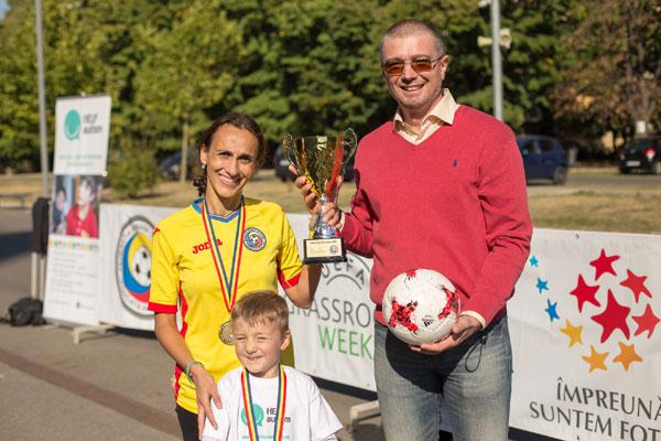 Federatia Romana de Fotbal sustine integrarea prin sport a copiilor cu autism