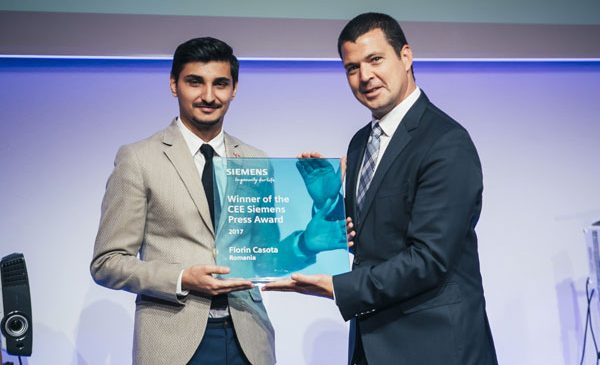 Jurnalistul român Florin Cașotă a câștigat trofeul Siemens CEE Press Award 2017