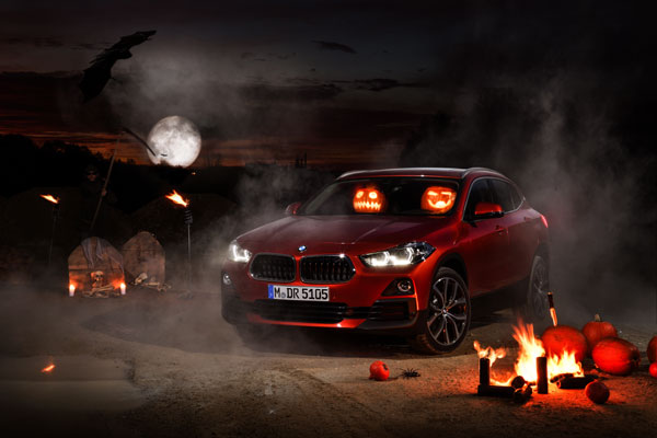 Happy Halloween! wishes the new BMW X2