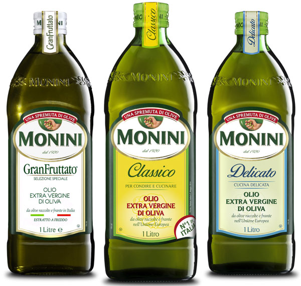Monini Classico, Delicato, Granfruttato