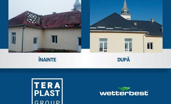 Grupul TeraPlast a donat Școlii Primare Mogoșeni materiale pentru reparația acoperișului afectat de furtuna din septembrie