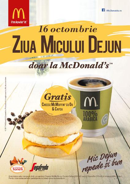 Ziua Micului Dejun la McDonalds