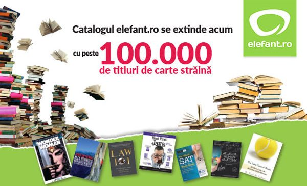 elefant.ro își înnoiește portofoliul cu peste 100.000 de titluri de carte străină
