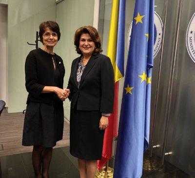 Ministrul Rovana Plumb a avut o întâlnire cu Marianne Thyssen, comisar european pentru Ocupare, Afaceri Sociale și Incluziune