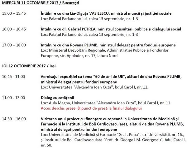 program vizita Marianne Thyssen