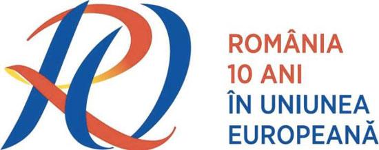 10 ani de la aderare in UE logo