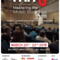 Afis Mastering the Music Business, editia 3