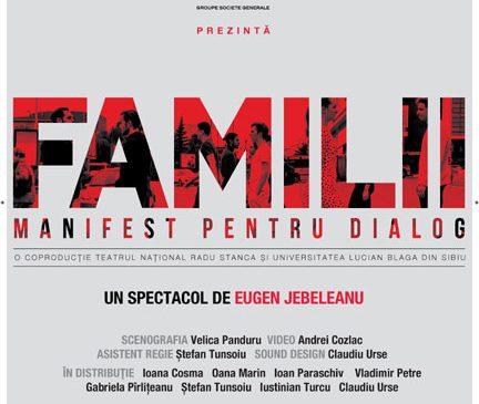 """BRD continuă turneul """"Manifest pentru dialog"""" și aduce spectacolul Familii în 10 orașe din România"""