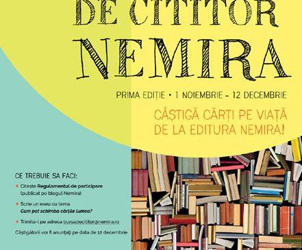 Bursa de cititor Nemira – cărți pe viață pentru elevi
