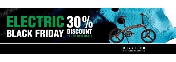 Electric Black Friday pentru clientii Bizze: Cumpara-ti bicicleta electrica la super pret
